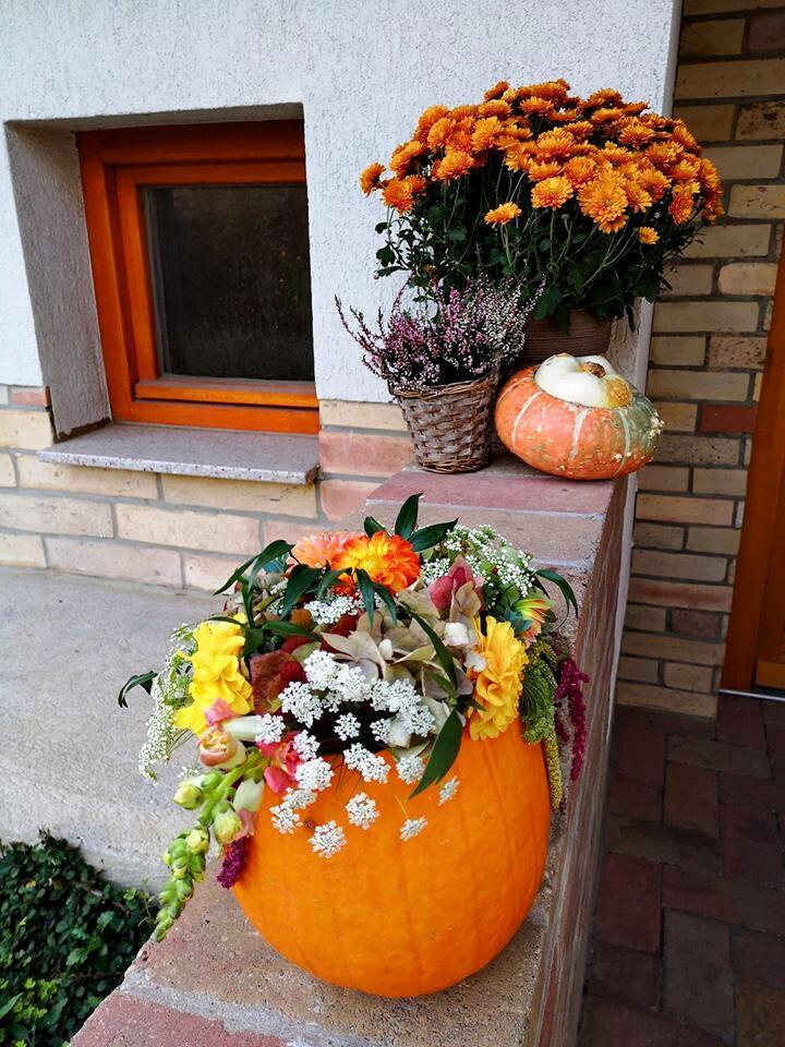 őszi esküvő, őszi dekoráció