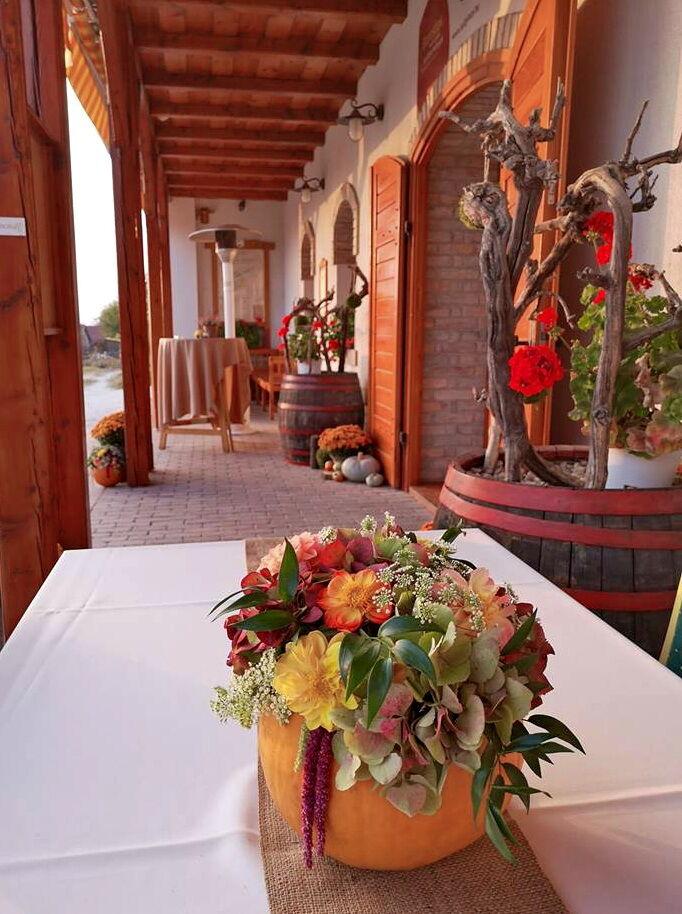 Őszi esküvő őszi dekoráció