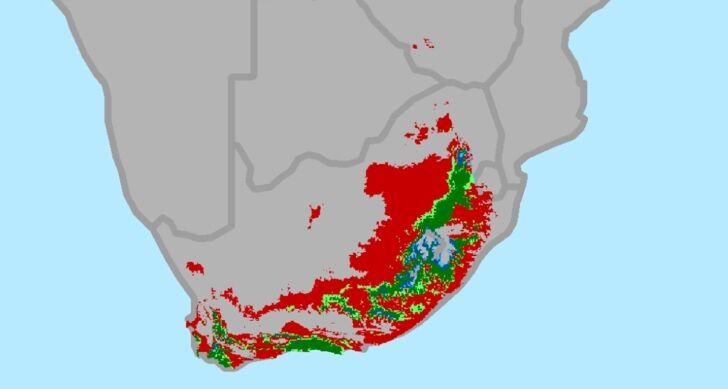 DÉL Afrika klímatérképe