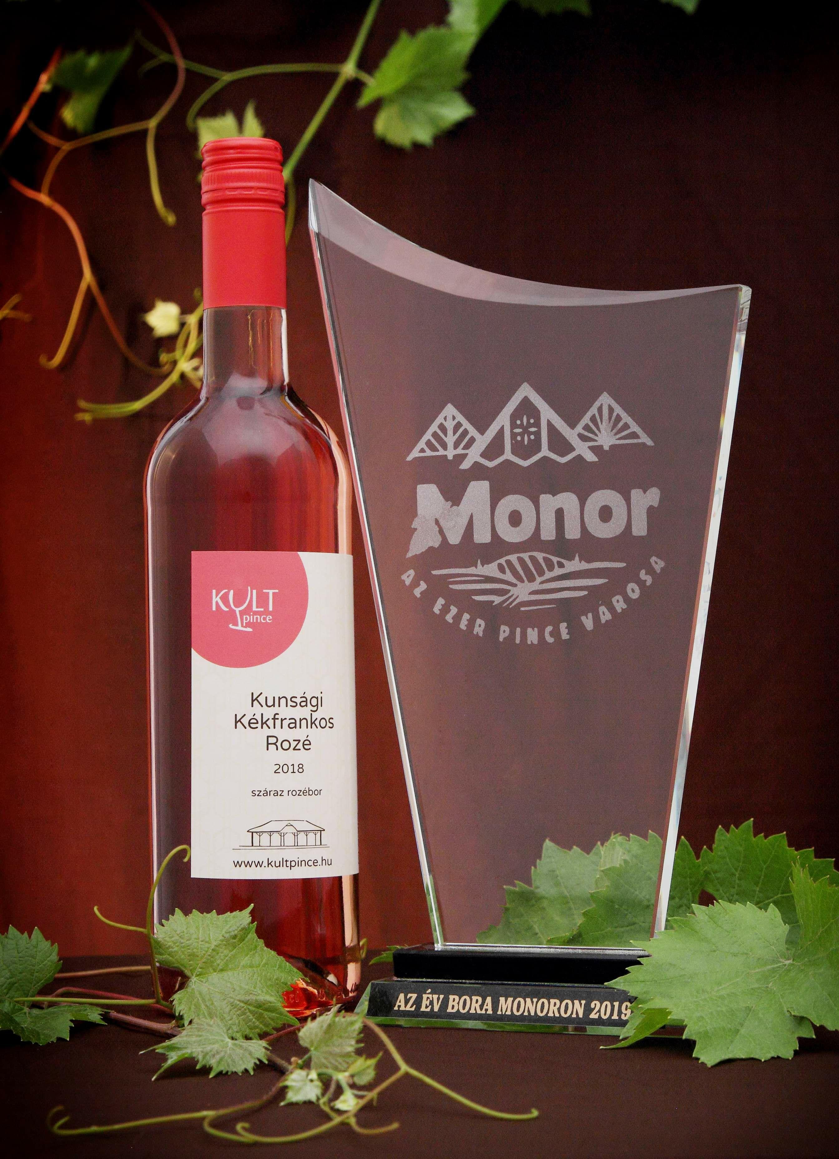Az év bora Monoron 2019, kékfrankos rozé 2018