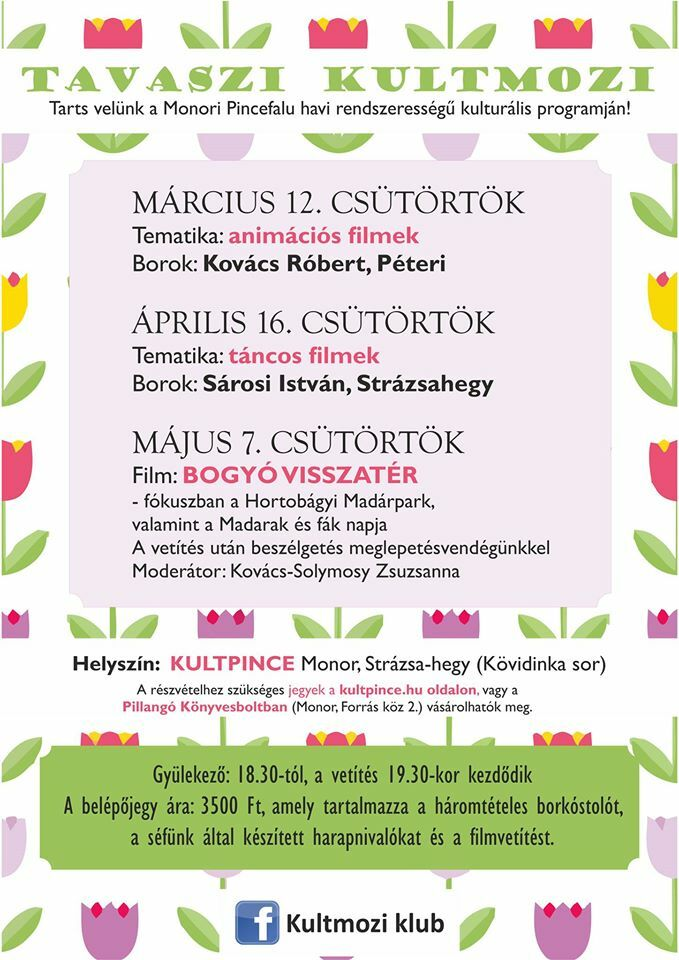 Tavaszi KultMozi programterve