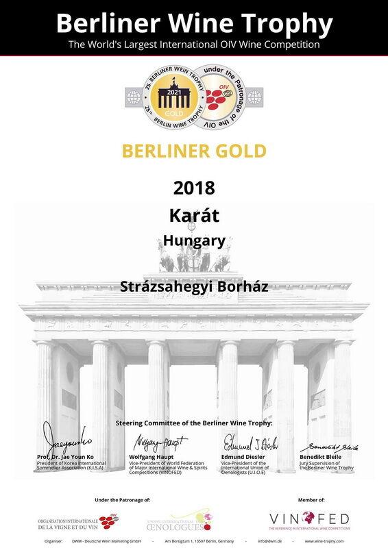 Aranyérem a Berliner Wein Trophy borversenyen