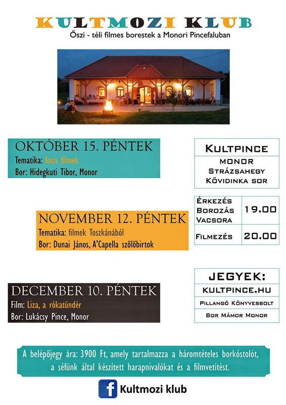 KultMozi őszi - téli programja