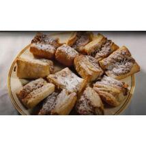 Hájas sütemény, amely a disznótorok  és téli esték kedvence