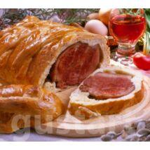 Disznóvágásaink hozadékaként tésztában sült  húsvéti sonka receptje